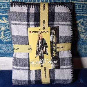 NWT Woolrich Pancho Blanket Wrap  Flannel Tartan